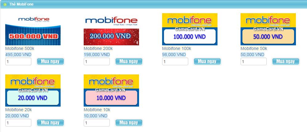 Thẻ Điện Thoại - Mua Thẻ Mobifone Nạp Game Khi Ở Mỹ h1