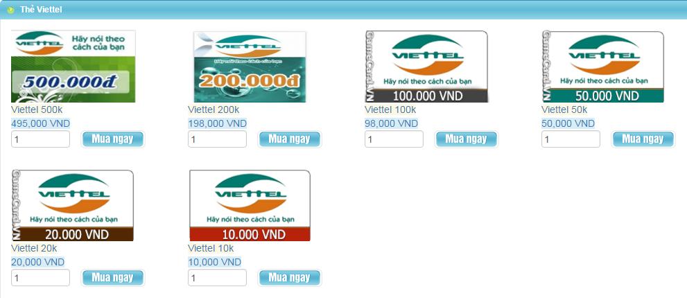 Mua Thẻ Viettel Online Bằng Thẻ Visa Khi Ở Mỹ 1