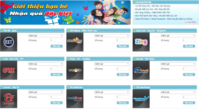 Mua Thẻ Game Online Bằng Thẻ Visa Khi Ở Mỹ