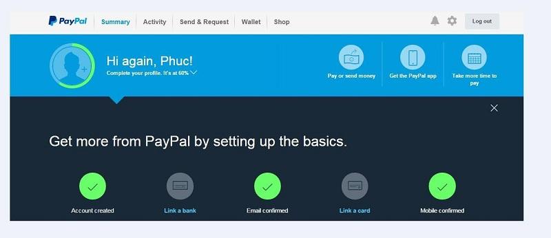 Hướng Dẫn Xác Nhận Thông Tin Khi Thanh Toán Qua Cổng Paypal 2