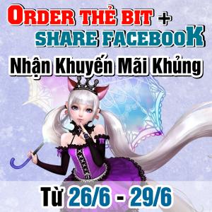 Mua Thẻ BIT + Share Facebook - Nhận Khuyến Mãi Cực Khủng