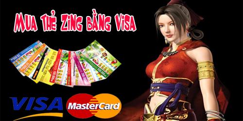 Cách Hay Mua Thẻ Zing Siêu Nhanh Bằng Thẻ Visa