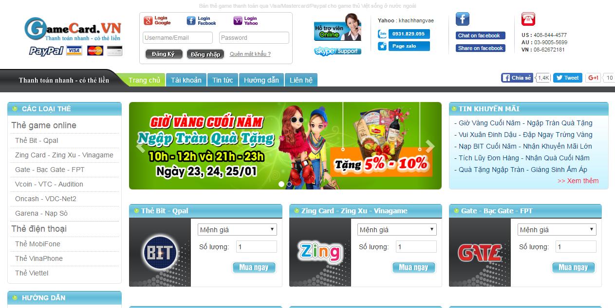 Cách nhận biết một website bán thẻ gate uy tín