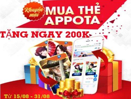 Ưu Đãi Lớn - Tặng Ngay 200k Cho Thành Viên Mới Mua Thẻ Appota