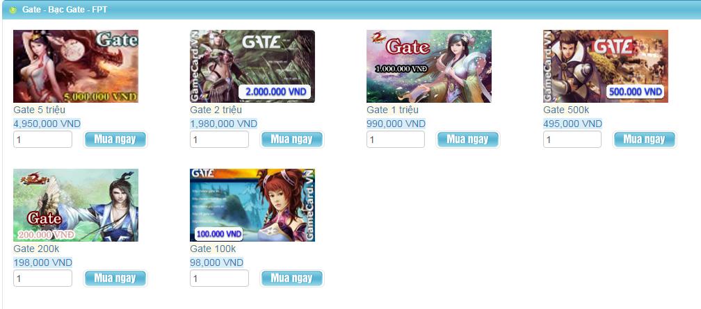 Những câu hỏi thường gặp khi mua thẻ Gate online