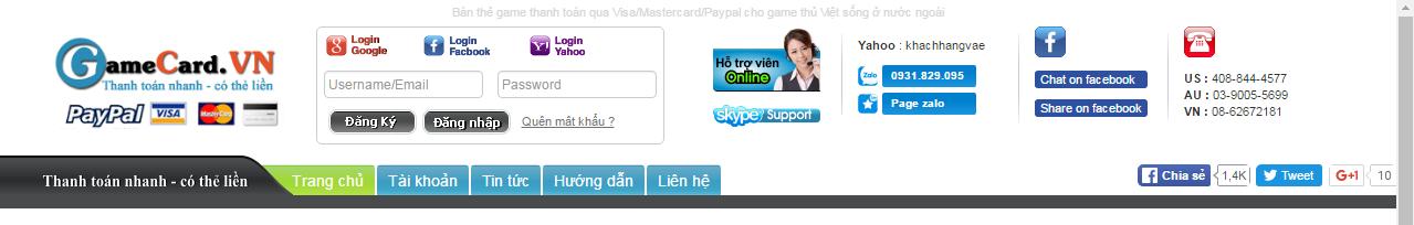 Gamecard.vn – Lựa chọn sáng suốt của game thủ
