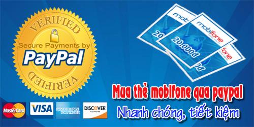 Mẹo Mua Thẻ Mobifone Qua Ví Điện Tử Paypal