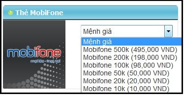 Mua thẻ Mobifone online ở đâu