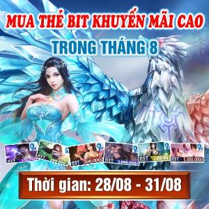 Mua Thẻ Bit Khuyến Mãi Cao Trong Tháng 8 Tại Gamecard.vn
