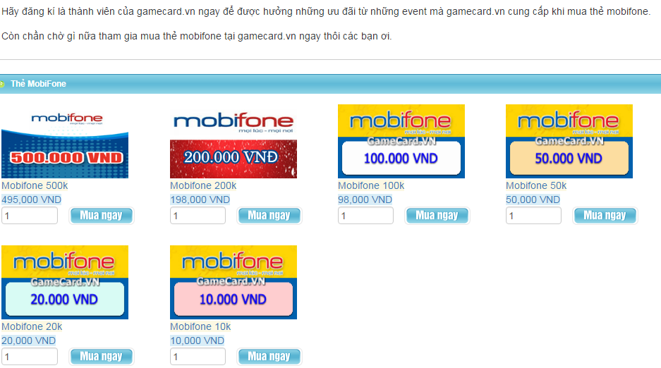 Mua thẻ Mobifone online – bạn đã biết?