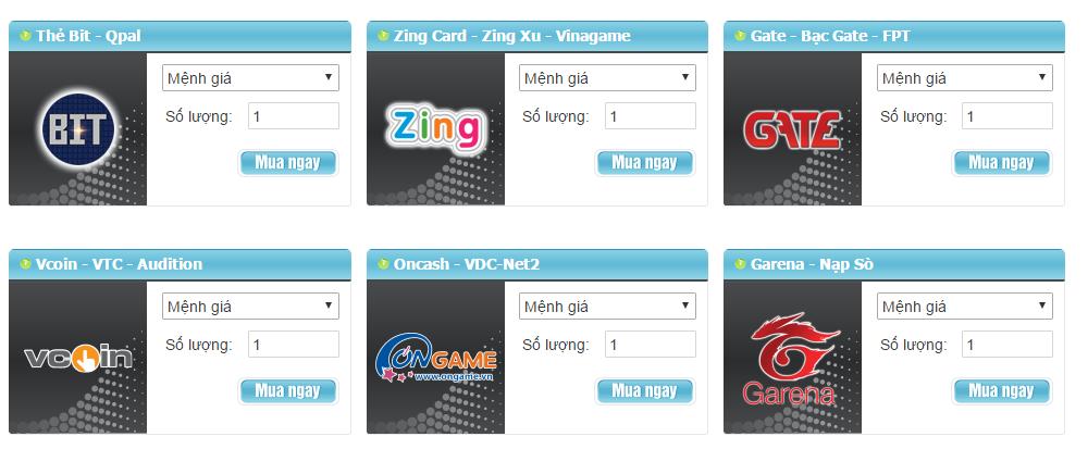 Mua thẻ game online như thế nào