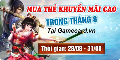 Mua Thẻ Khuyến Mãi Cao Trong Tháng 8 Tại Gamecards.vn