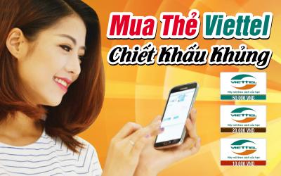 Mua Card Viettel Online Nạp Game Đã Tay, Ưu Đãi Đầy Túi
