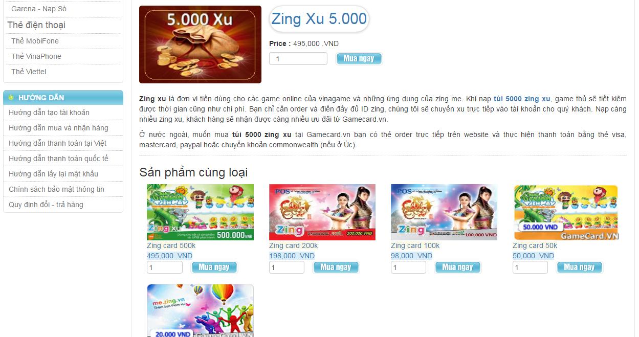 Mua Zing Xu Online Tại Gamecard Dịch Vụ Hỗ Trợ Tốt Nhất Để Tránh Lừa Đảo