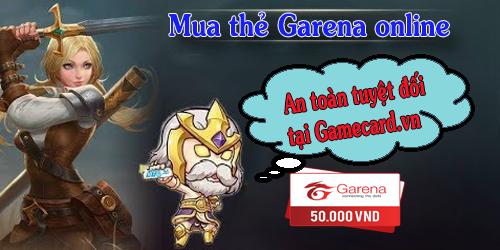 Những Điều Cần Lưu Ý Khi Mua Thẻ Garena Online Tại Gamecardvn