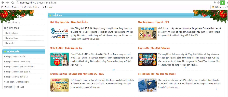 Những mệnh giá Zing/ Zing Xu tại gamecard.vn.