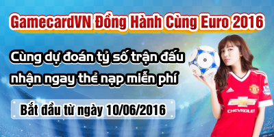 Kết quả Event Dự Đoán Euro - Nhận Thẻ Game Online Miễn Phí