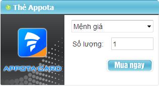 Mua Thẻ Appota Nạp Được Cho Những Game Nào?