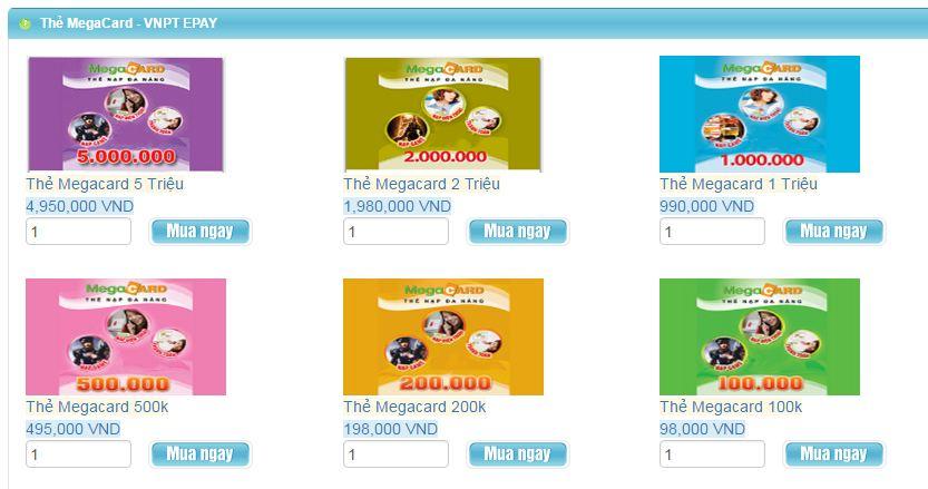 Mua Thẻ Megacard Online Tiện Lợi Về Mọi Mặt