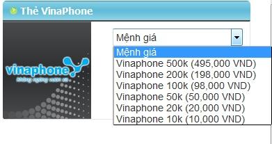 Mua thẻ Vinaphone khi ở Mỹ