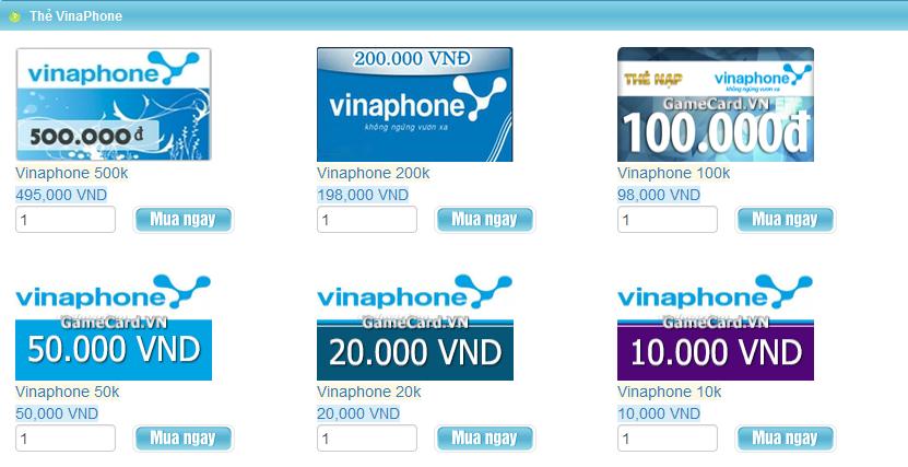 Gamecard.vn - Nơi mua thẻ Vinaphone online an toàn, nhanh chóng