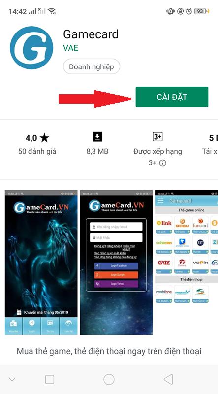 Tải App Gamecard trên CH Play - Nhận Ngay Ưu Đãi Lớn