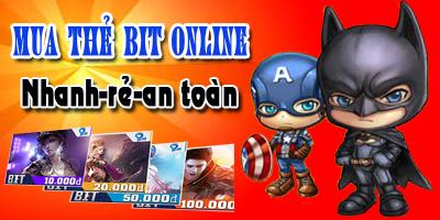 Mua thẻ bit online nhanh chóng, giá rẻ nhất thị trường