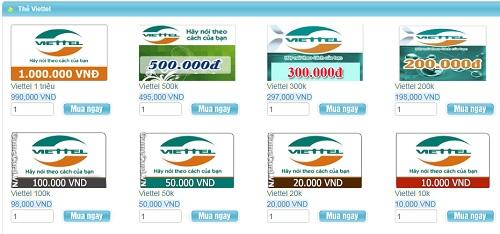 Cách mua thẻ viettel online giá rẻ không phải ai cũng biết