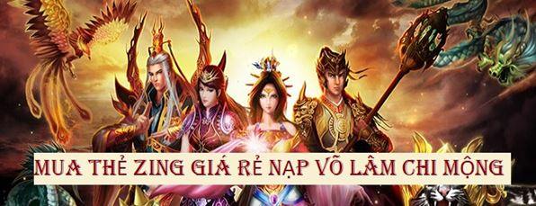 Hướng dẫn người chơi nạp game Võ Lâm Chi Mộng tại Gamecard.vn
