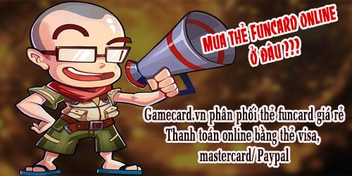 Hướng dẫn cách mua thẻ nạp game funtap cho game thủ