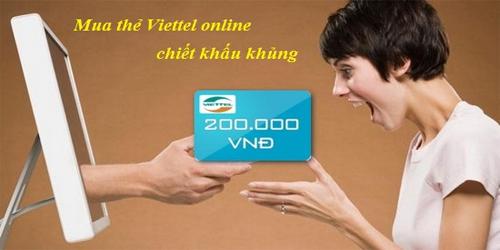 Ít người biết cách mua thẻ viettel online chiết khấu cao