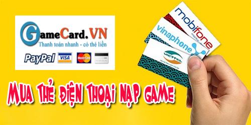 Mua thẻ điện thoại online cũng có thể nạp game dễ dàng