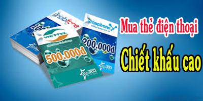 mua thẻ điện thoại trực tuyến chiết khấu cao