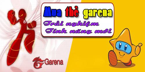 Mua thẻ garena online tại Gamecard.vn