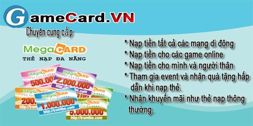 Mua thẻ megacard và chiết khấu khi đổi thành tiền mặt