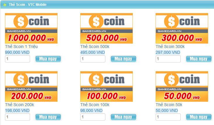 Mua thẻ scoin - Những lợi ích thiết thực khi thanh toán online tại Gamecard.vn