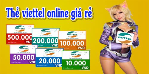 Thẻ Viettel Online Giá rẻ cho game thủ ở nước ngoài